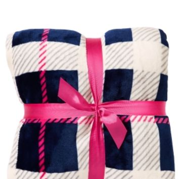 Festival Blanket Blue & Pink Plaid