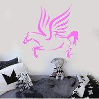 Wall Stickers Vinyl Decal Pegasus Winged Horse Mythical Creature Unique Gift (ig248)