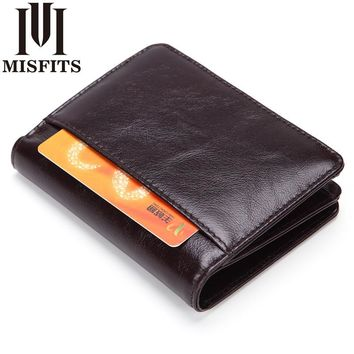 Vintage Minimalist Wallet Crazy Horse Leather Man Wallets Wallet Leather Men Handmade Luxury Dsigners For World Cup Gifts