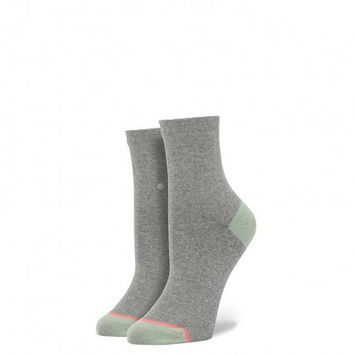 Stance Dancey Ankle Blue Sock Silver OS Women