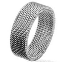 316l 8mm Stainless Steel Flexible Mesh Woven Screen Ring (7)