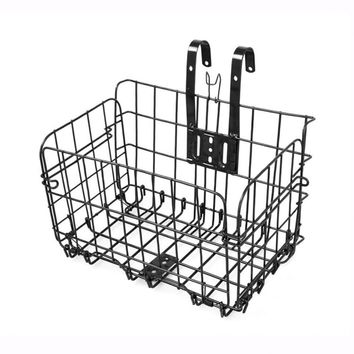 Foldable Metal Wire Basket for Bicycle Bike Front Bag Rear Hanging Bike Basket Bicycle Bag Road MTB Bike Accessories