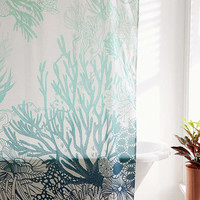 Ombre Coral Reef Shower Curtain - Urban Outfitters