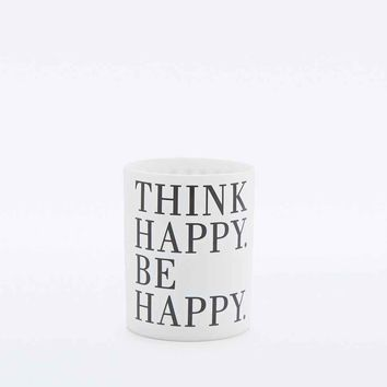 Think Happy Be Happy T-Light Holder - Urban Outfitters
