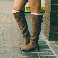 Knee High Boots, Cognac