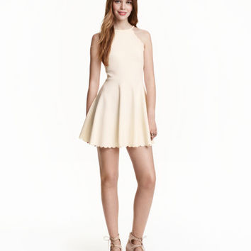 H&M Dress with Scalloped Edges $29.99