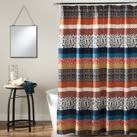 The Averly Boho Stripe Shower Curtain