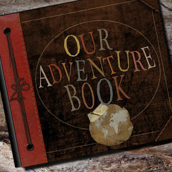 Up Adventure Book Photo Album, Scrapbook, Personalized Guest Book