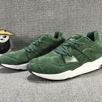 DCCKIJ2 Puma Trinomic Blaze Suede Mid-High Casual Shoes Sneaker Green