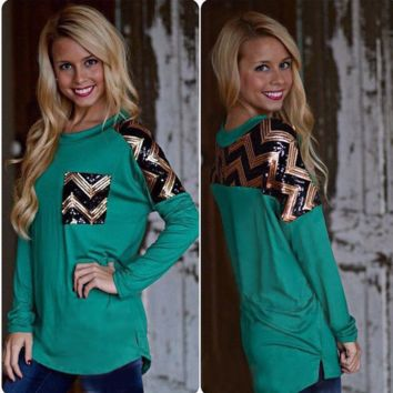 Cool Leopard Pocket Black Long Sleeve Shirt