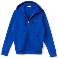 LACOSTE Fashion Casual Women Men Zipper Hot Long Sleeve  Sweater Blue G