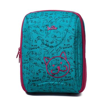 2017 Delune School Bag High Quality Nylon Fabric Orthopedic Design Children Cartoon Animal Large School Backpack
