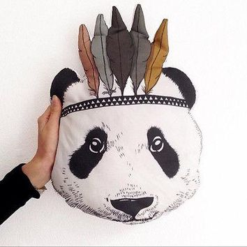Baby Stuffed Toy Cute Cartoon Pillow  Decorative Indian Panda Cushion Animal Bed Sofa Doll Gift