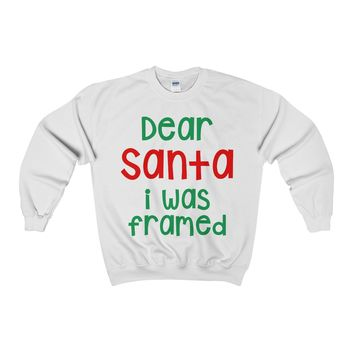 Dear Santa I Was Framed Ugly Christmas Sweater Sweatshirt