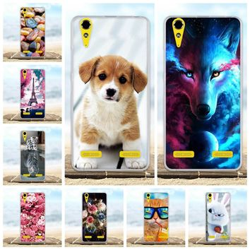 For Lenovo A6000 A6010 Case Soft Silicone TPU Fundas Coque For Lenovo A 6000 Plus Lemon K3 Phone Cases 3D Animal Cute Bag Shell