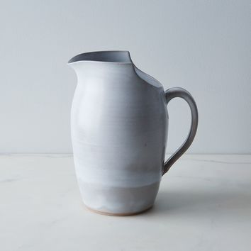 Large Cut Rimmed Pitcher - Ceramic Pitcher -- Serveware - Moonstar Pottery | Shop Food52