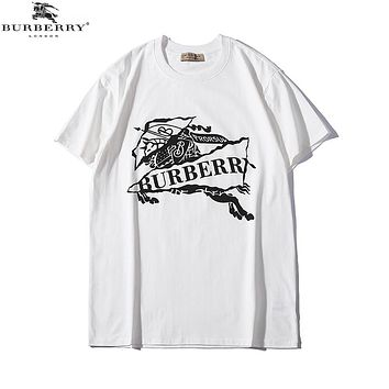 Burberry 2019 early spring new casual wild fashion short sleeve t-shirt White
