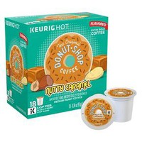 Keurig Donut Shop Nutty Caramel Medium Roast Coffee K-Cup pods 18ct : Target