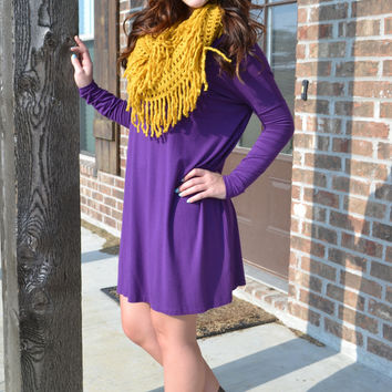 Purple Piko Dress