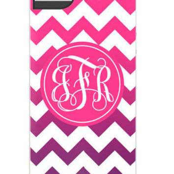 iPhone 5 and 4/4s Case - Ombre Chevron Personalized iPhone Case