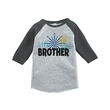 Custom Party Shop Kids Little Brother Happy New Year Raglan Shirt