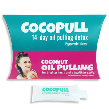 COCOPULL - 14 & 28 Day Coconut Oil Pulling Detox for Whiter Teeth & Healthier Smile
