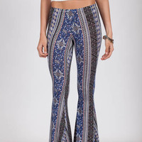 Bella Baby Blue Boho Bell Bottom Pants
