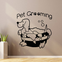 Pet Wall Decal Pet Grooming Salon Decals Vinyl Stickers Puppy Pet Shop Animal Decor Nursery Bedroom Wall Art Home Decor Dog Lover Gift Z856