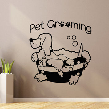 Pet Wall Decal Pet Grooming Salon Decals Vinyl Stickers Puppy Pet Shop  Animal Decor Nursery Bedroom
