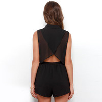 2Pcs Sleeveless Wrap Back Cropped Top Shorts Set