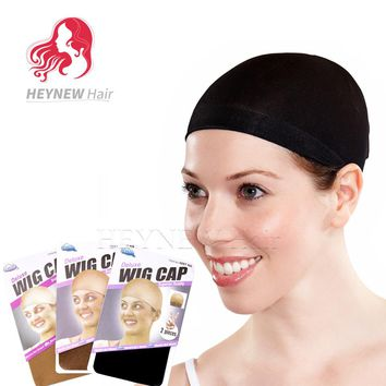 20PCS/Lot Deluxe Wig Cap Nylon Hairnet Invisible Black/Dark Brown/Light Brown color Glueless Wig Base Cap Snood Hair Net
