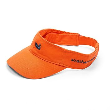 Visor in Orange with Navy Duck by Southern Marsh
