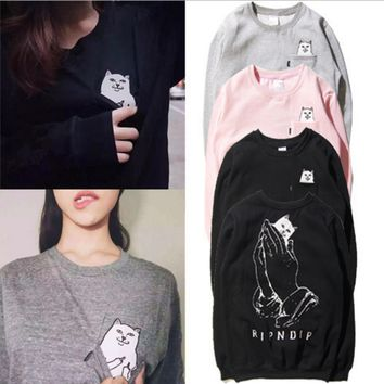 RIPNDIP Lord Nermal Pocket Sweater Sweatshirts