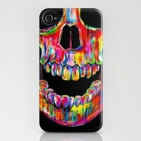 Chromatic Skull iPhone Case by John Filipe | Society6
