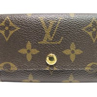 LOUIS VUITTON 6 Key Holder Monogram Canvas M62630