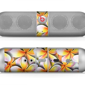 The Vibrant Yellow Flower Pattern Skin for the Beats by Dre Pill Bluetooth Speaker