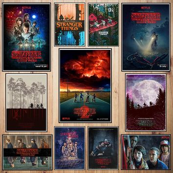 Stranger Thing Coated paper poster Cafe Creative wallpaper Interior Decoration Free Shipping