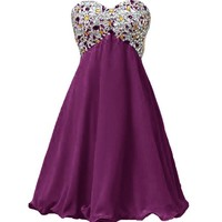 Dresstells Sweetheart Dresses Homecoming Dresses with Beadings Cheap Homecoming Dress
