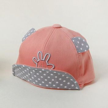 Sunshine Baby Boy Girls Cotton Baseball Visor Hat Unisex Punk Soft Caps