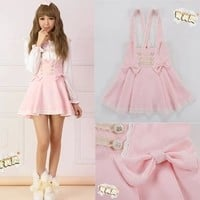 Free shipping 2014 Summer dress High Waisted Strapless Pink bow tie Dress Suspender Strap Lolita Aymmy Cute Maid Bandage-in Dresses from Women's Clothing & Accessories on Aliexpress.com | Alibaba Group