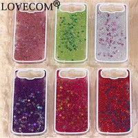 Glitter Stars Dynamic Liquid Quicksand Hard Case Cover For Samsung Galaxy S3 I9300 Transparent Clear Phone Case YC1009