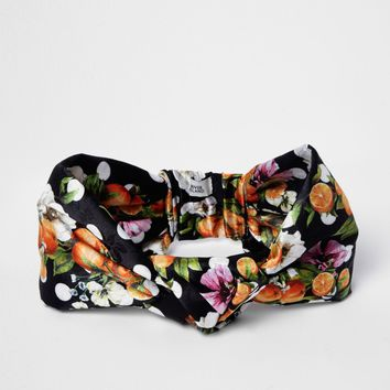 Black orange fruit knot front headband - Hair Accessories - Accessories - women