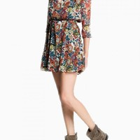 Chiffon Dress In Floral Print - Choies.com