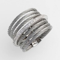 Women's ALOR 7-Row Cable & Diamond Ring