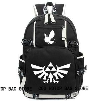 anime  The legend of zelda Backpack Cosplay Fashion Canvas Bag Luminous Schoolbag Travel Bags packsack
