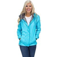 Preptec Rain Jacket in Glacier Blue by Lauren James - FINAL SALE