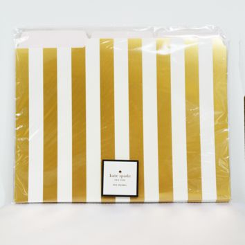 gold stripe file folders