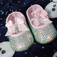 Baby Bling Newborn Infant Baby Girl Reinstone Crystal Shoes Booties