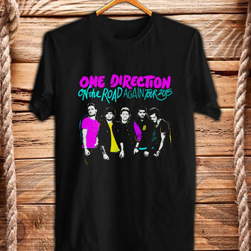 One Direction Shirt Men and Women On The Road Again Tour T Shirt Any Size 001