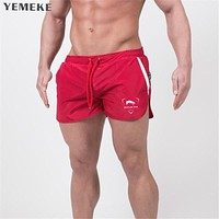 Men Jogger Sporting Shorts Slimming Men Black Bodybuilding Short Pants Male Fitness Gyms Shorts for workout
